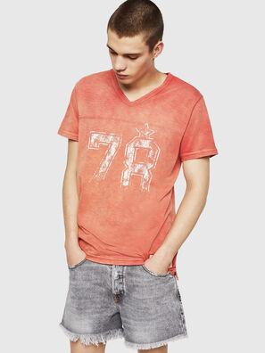 T-DIEGO-V-CUT, Rojo Fuego - Camisetas