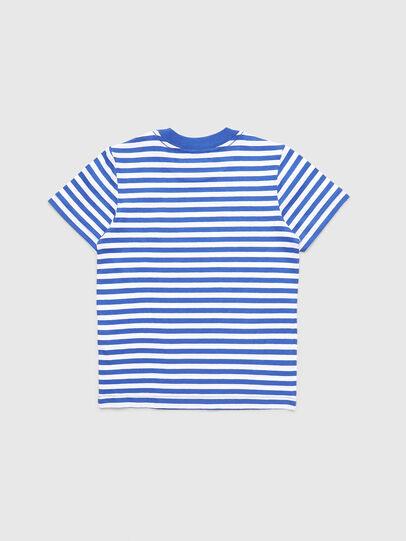 Diesel - TVIKB-R, Azul/Blanco - Camisetas y Tops - Image 2