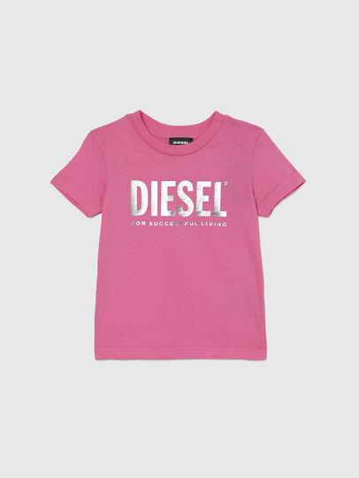 Diesel - TJUSTLOGOB-FL MC-R, Rosa - Camisetas y Tops - Image 1