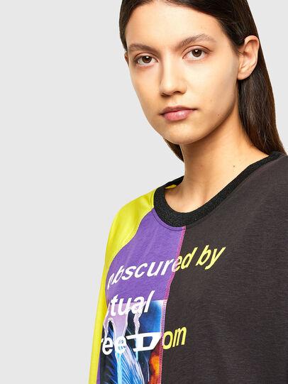Diesel - T-KIM, Violeta/Negro - Camisetas - Image 4