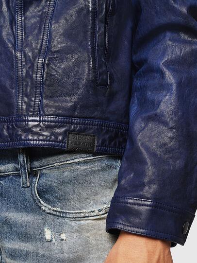 Diesel - L-NHILL, Azul - Chaquetas de piel - Image 5