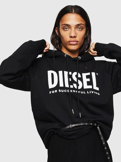 Diesel - F-GIR-HOOD-DIV-LOGO-, Negro - Sudaderas - Image 3