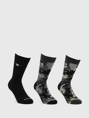 SKM-RAY-THREEPACK, Negro/Verde - Calcetines