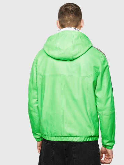 Diesel - L-CARRSY, Verde Fluo - Chaquetas de piel - Image 2