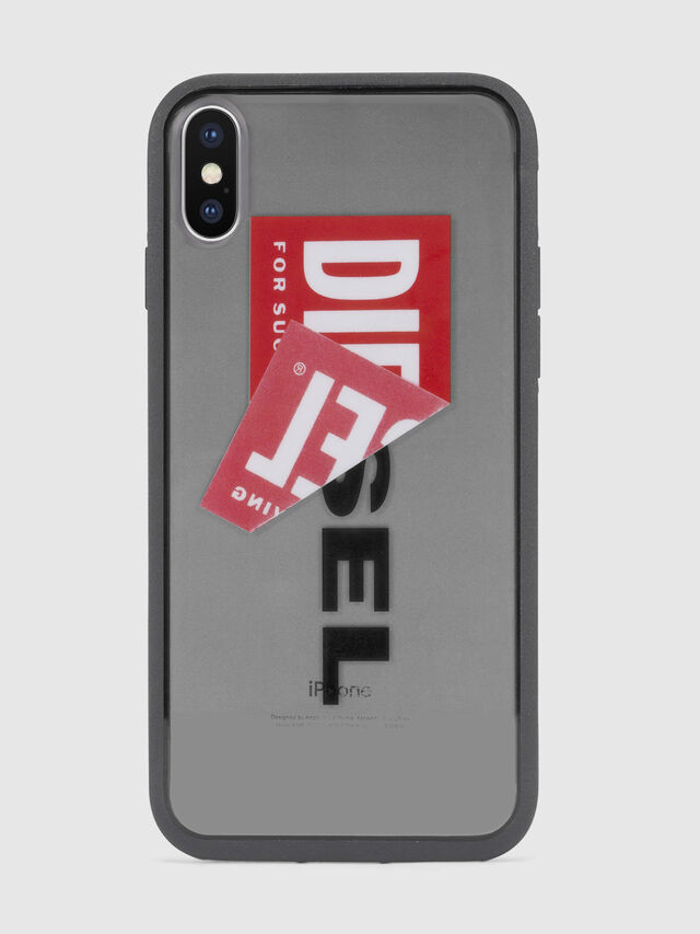 Diesel - STICKER IPHONE X CASE, Negro - Fundas - Image 2