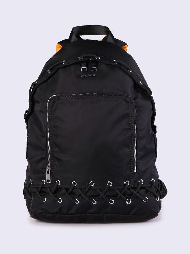 F-SUPERPASS BACK, Negro/naranja flúor