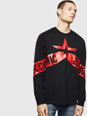 T-JUST-LS-STAR, Negro - Camisetas