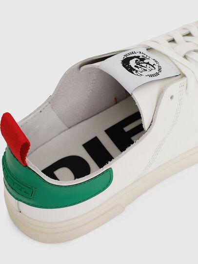 Diesel - S-CLEVER LS, Blanco/Verde - Sneakers - Image 4