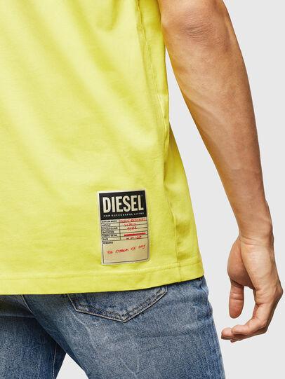 Diesel - T-JUST-B23, Amarillo - Camisetas - Image 4