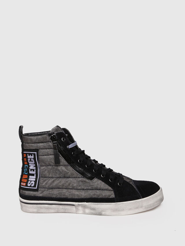 Diesel - D-VELOWS MID PATCH, Gris/Negro - Sneakers - Image 1