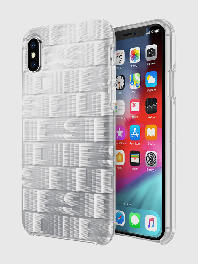 Diesel - DIESEL PRINTED CO-MOLD CASE FOR IPHONE XS & IPHONE X, Blanco - Fundas - Image 1