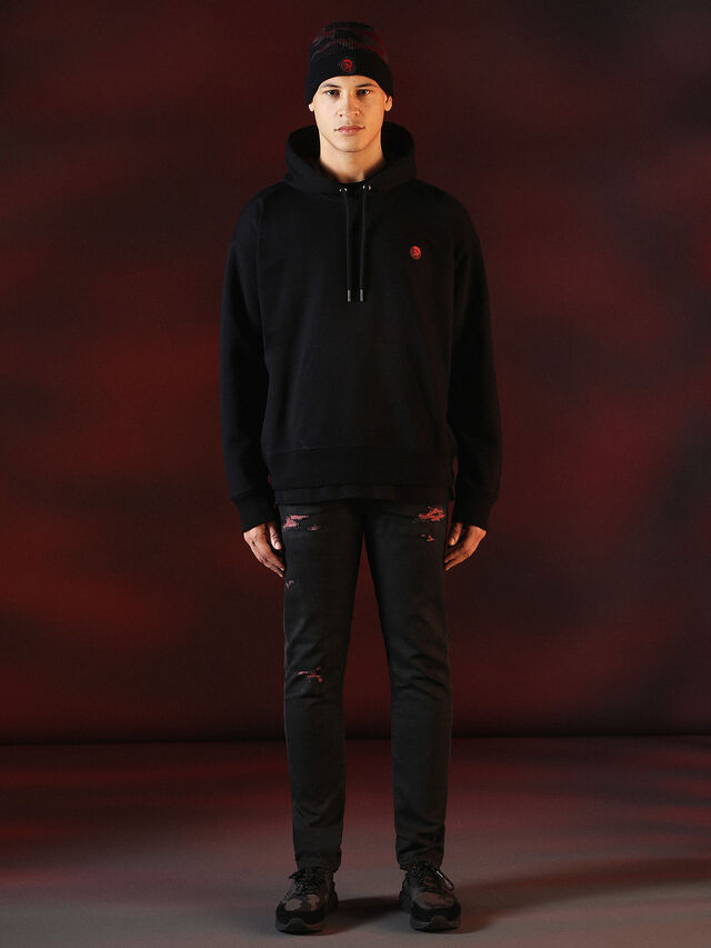 Diesel - DVL-SWEAT-SPECIAL COLLECTION, Negro - Sudaderas - Image 5