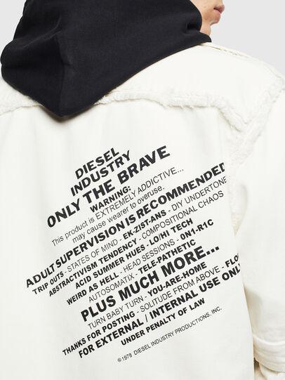Diesel - D-KURTIS, Blanco - Camisas de Denim - Image 8