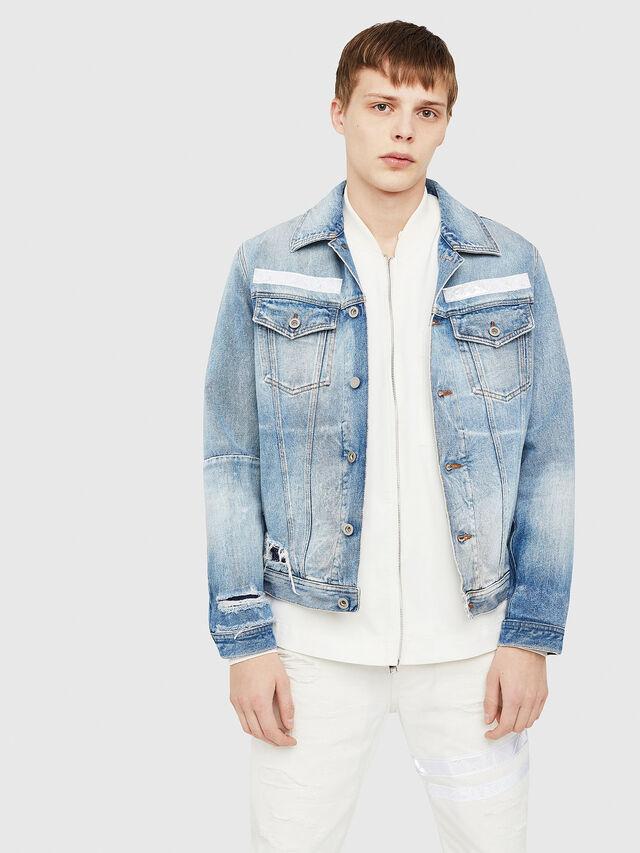 Diesel - NHILL-TM, Blue Jeans - Chaquetas de denim - Image 1