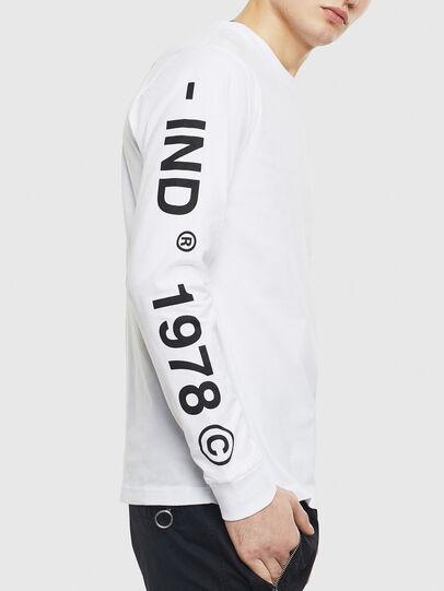 Diesel - T-JUST-LS-T14, Blanco - Camisetas - Image 3