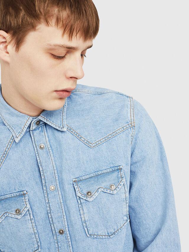 Diesel - D-LEO, Blue Jeans - Camisas de Denim - Image 3