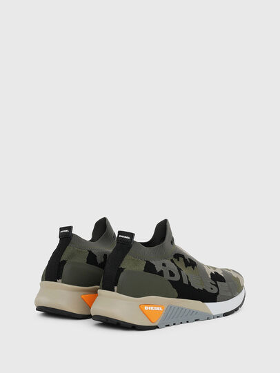 Diesel - S-KB ATHL SOCK II, Verde Camuflaje - Sneakers - Image 3
