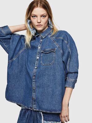 DE-NOVA, Azul medio - Camisas de Denim
