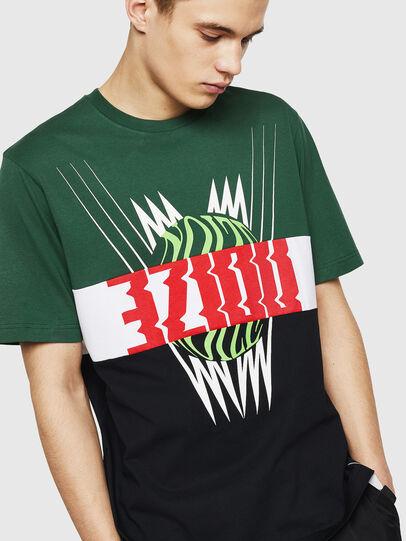 Diesel - T-JUST-A11, Verde/Negro - Camisetas - Image 4