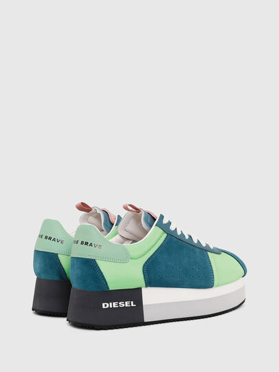 Diesel - S-PYAVE WEDGE, Verde/Azul - Sneakers - Image 3