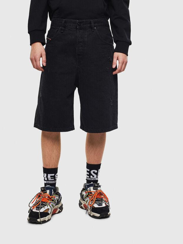 D-BRON, Negro/Gris oscuro - Shorts