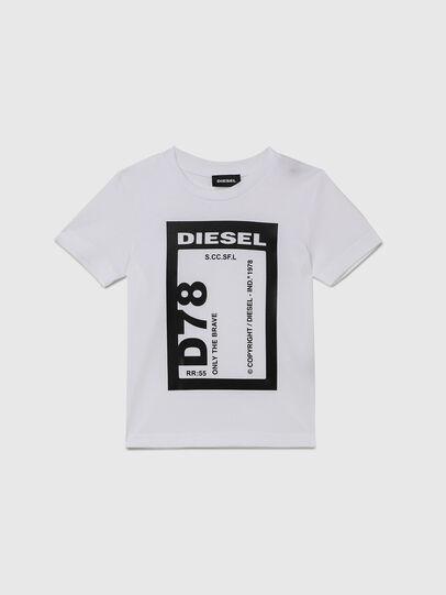 Diesel - TFULL78B-R, Blanco - Camisetas y Tops - Image 1