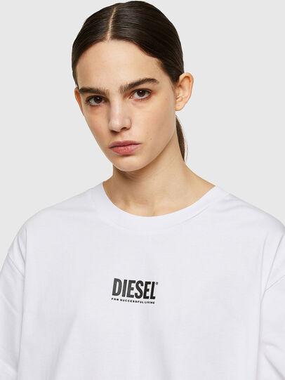 Diesel - D-BOWI-SMALLOGO, Blanco - Vestidos - Image 3