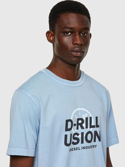 Diesel - T-JUBINDY, Azul Claro - Camisetas - Image 3