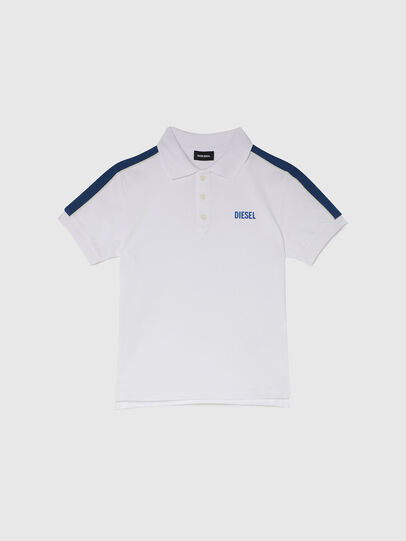 Diesel - TRALFYS1, Blanco/Azul marino - Camisetas y Tops - Image 1