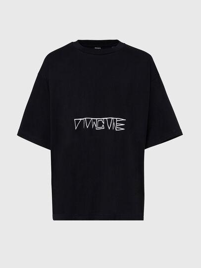 Diesel - T-BALL-X1, Negro - Camisetas - Image 1