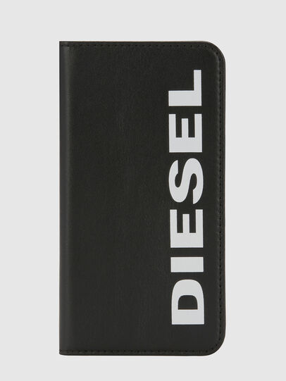 Diesel - SLIM LEATHER FOLIO IPHONE X, Negro - Fundas tipo libro - Image 5
