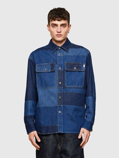 Diesel - D-HORUS, Azul - Camisas de Denim - Image 1