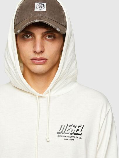 Diesel - T-JUST-LS-HOOD-SLITS, Blanco - Camisetas - Image 3