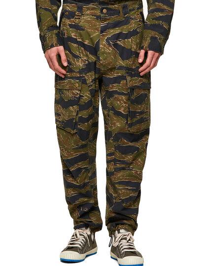 Diesel - P-BARTON, Verde Militar - Pantalones - Image 1