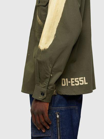 Diesel - S-BUNNELL, Verde Oliva - Camisas - Image 4