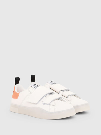 Diesel - S-CLEVER LOW STRAP W, Blanco/Rosa - Sneakers - Image 2