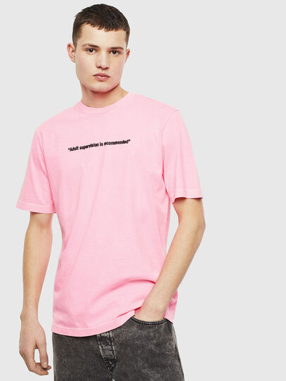Diesel - T-JUST-NEON, Rosa - Camisetas - Image 1