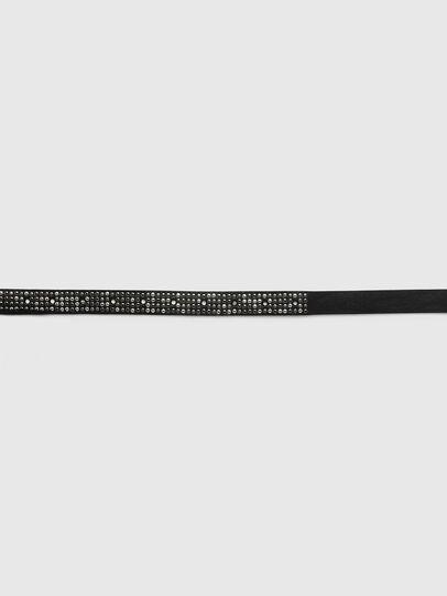 Diesel - B-MINISTUD, Negro - Cinturones - Image 3