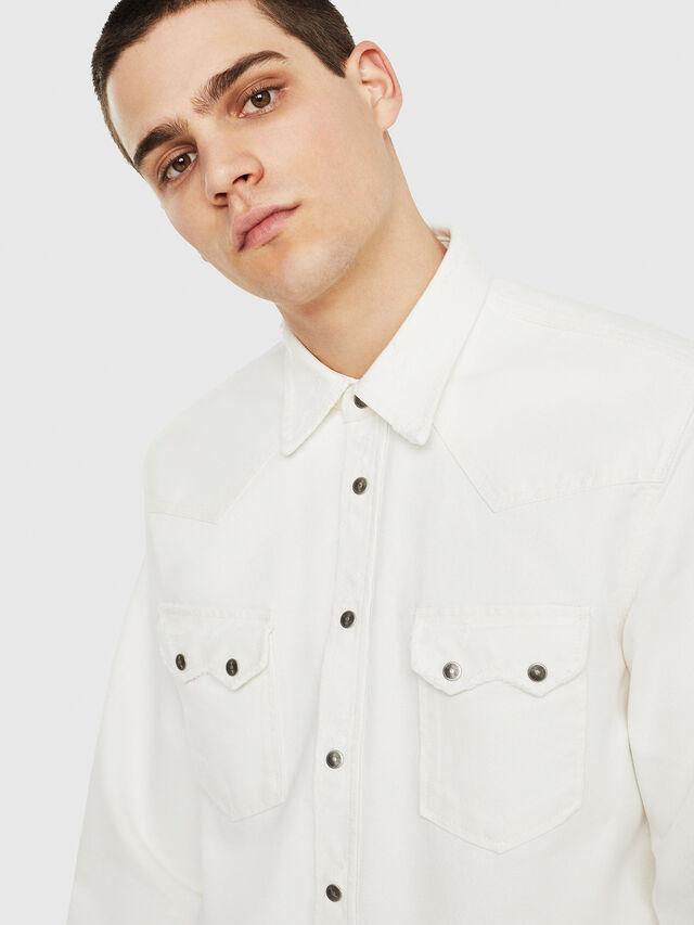 Diesel - D-LEO, Blanco - Camisas de Denim - Image 3