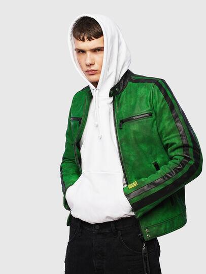 Diesel - L-BOY-A, Verde - Chaquetas de piel - Image 4