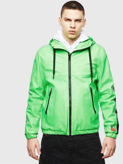 Diesel - L-CARRSY, Verde Fluo - Chaquetas de piel - Image 1