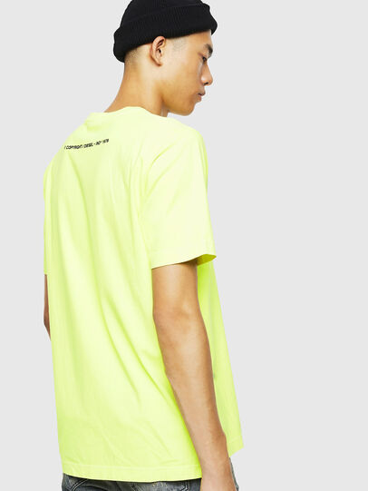 Diesel - T-JUST-SLITS-FLUO, Amarillo Fluo - Camisetas - Image 3