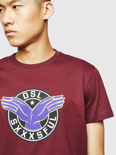 Diesel - T-DIEGO-B5, Burdeos - Camisetas - Image 3