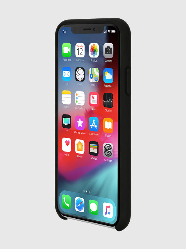 Diesel - DIESEL PRINTED CO-MOLD CASE FOR IPHONE XS & IPHONE X, Negro/Blanco - Fundas - Image 3