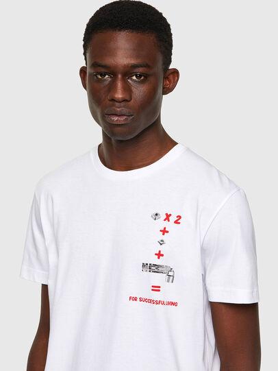 Diesel - T-DIEGOS-B4, Blanco - Camisetas - Image 3