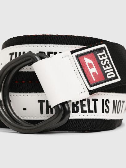 Diesel - B-RETA, Negro/Blanco - Cinturones - Image 2