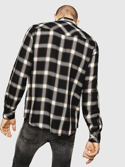 Diesel - S-EAST-LONG-XA, Negro/Blanco - Camisas - Image 2