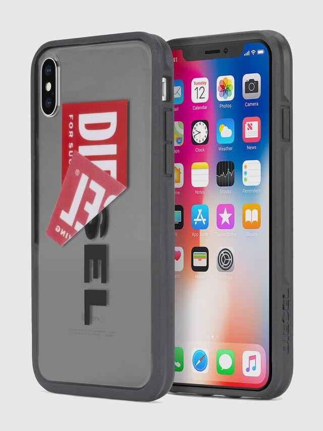 Diesel - STICKER IPHONE X CASE, Negro - Fundas - Image 1
