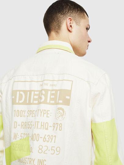 Diesel - NHILL-SP, Blanco - Chaquetas de denim - Image 5