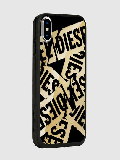 Diesel - MULTI TAPE GOLD/BLACK IPHONE X CASE, Oro - Fundas - Image 6